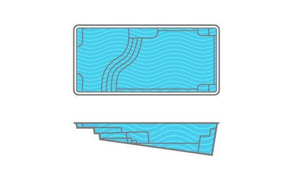 SwimUSA Fiberglass - Aspen - 12' x 25' 5'1'' $52,980.00