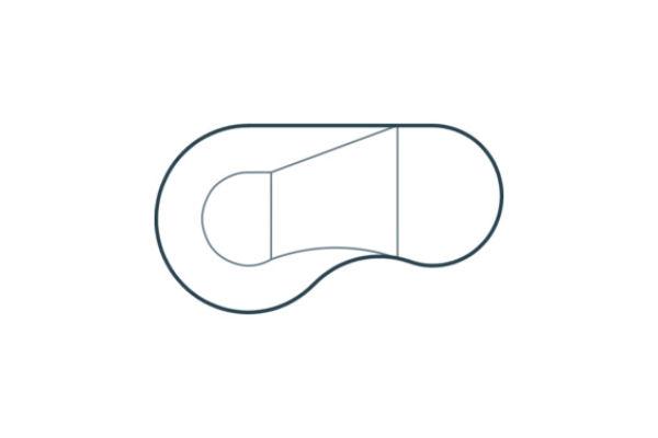Vinyl Liner Pools - Flat Back Kidney