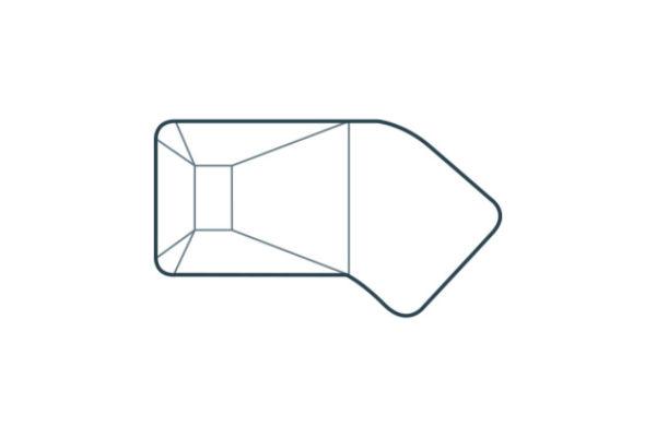 Vinyl Liner Pools - Lazy – L – 4ft Radius Corner