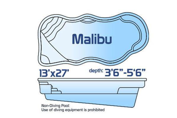SwimUSA Fiberglass - Natural - Malibu with Tanning Ledge $38,375.00