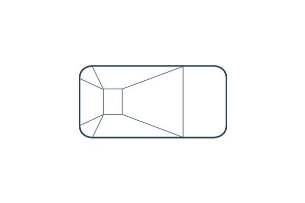 Vinyl Liner Pools - Rectangle 4ft Radius Corners