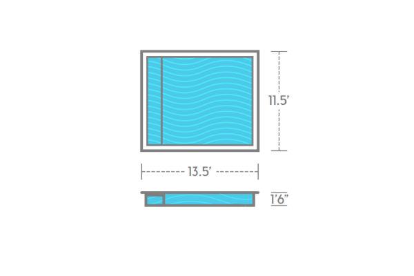 SwimUSA Fiberglass - Wading - 13.5' x 11.5' 1'6'' $14,375.00