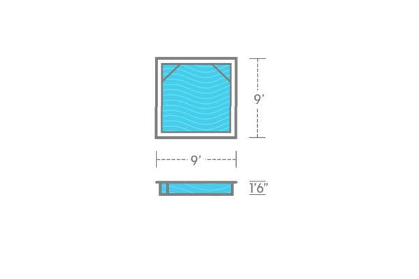 SwimUSA Fiberglass - Wading - 9' x 9' 1'6'' $11,875.00